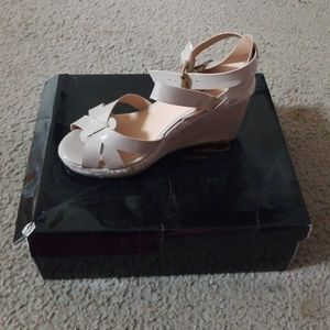 Brand new strappy wedge sandals